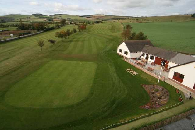 Aerial view from Duns Golf Club