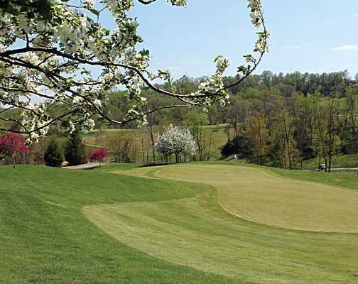 A spring view of a green from Speidel Golf Club At Oglebay Resort