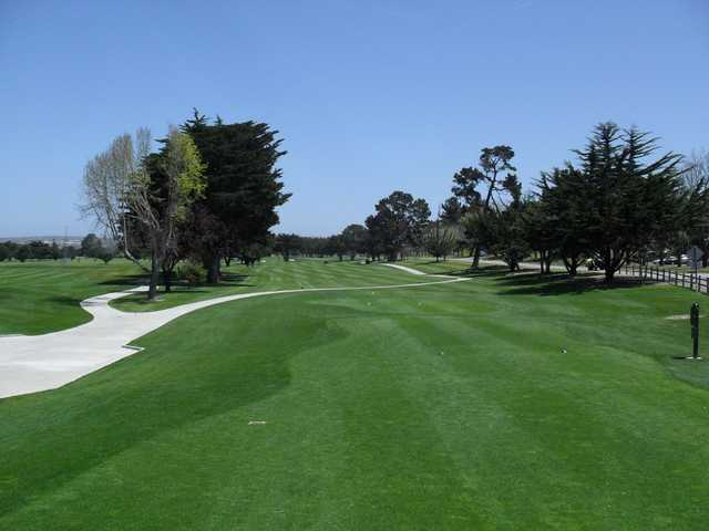 A view from a tee at Monterey Pines Golf Club