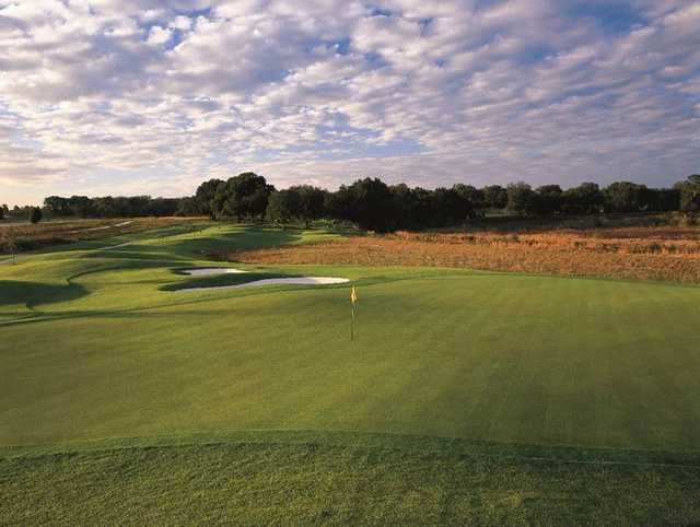 A view of a hole at Lake Jovita Golf & Country Club