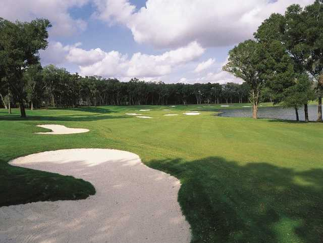 A view of a fairway at Lake Jovita Golf & Country Club