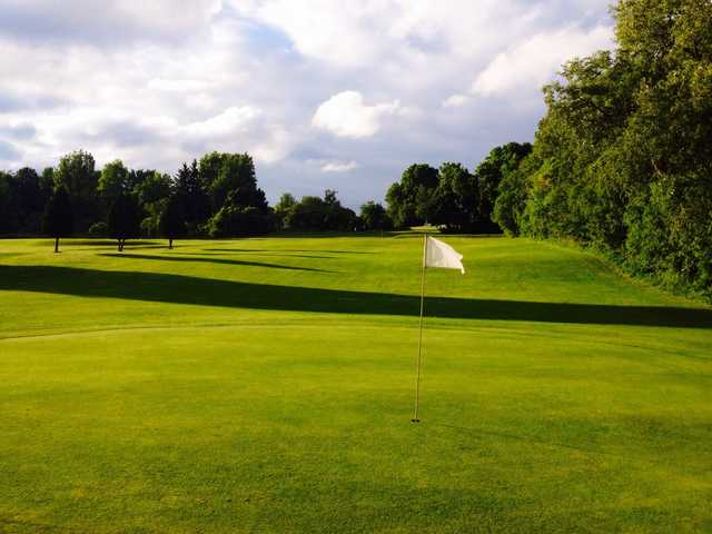 A view of a green at Lyndon Golf Course