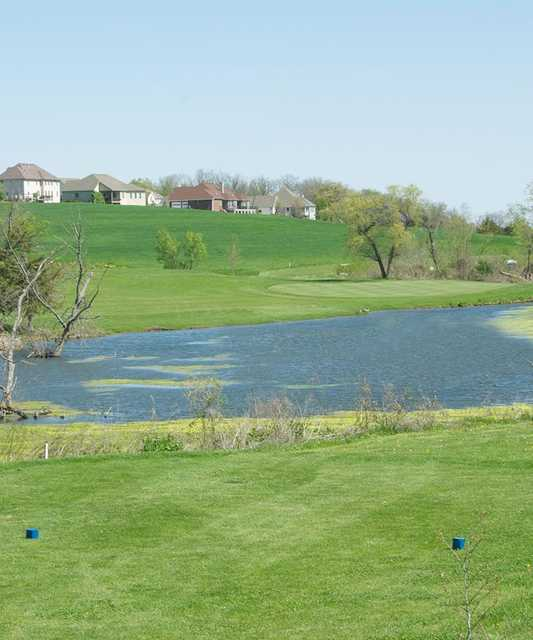 A view from the blue tee box at Atchison Golf Club at Bellevue