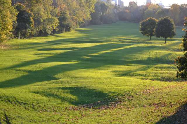 A sunny day view of a fairway at Maitland Club