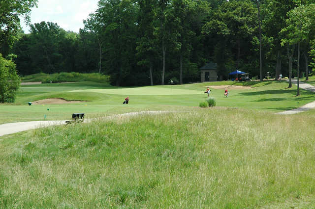 View of a green at Red Tail Run Golf Club