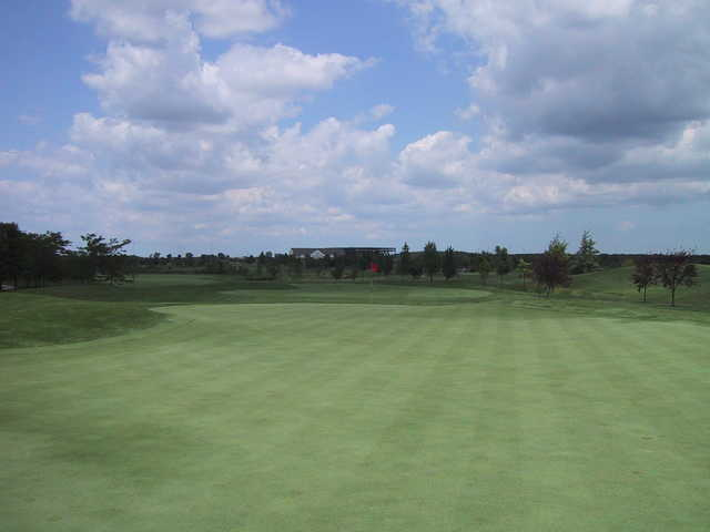 View of a green at Odyssey Golf Course
