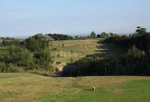 Tough drive off the 9th at Ravensworth Golf Club