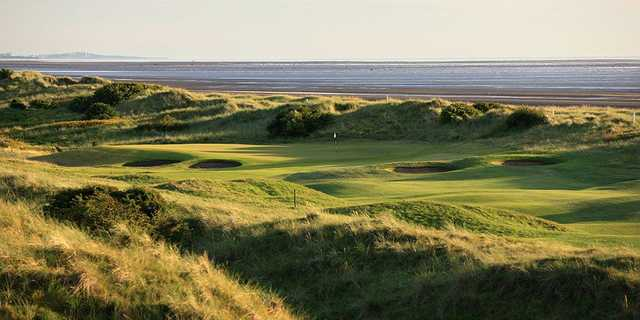 Well-protected green on the par 5, 5th at Siloth on Solway GC