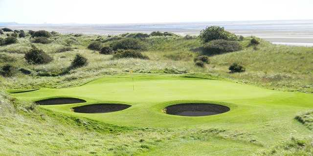 Silloth on Solway's 'Postage Stamp' green on the 9th 'The Manx'