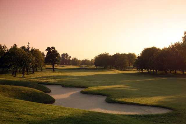 The 17th green on the Brabazon Course at The Belfry