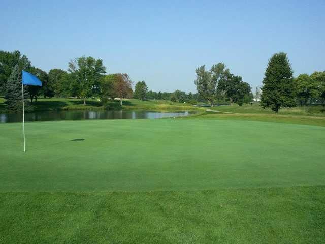 View of a green at Kittyhawk Golf Center