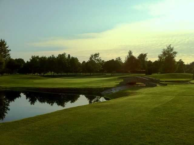 The pond next to the 18th green at Forest Hills