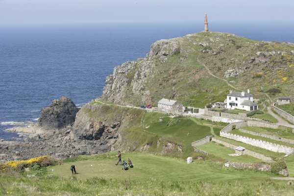 Spectacular views from the green at Cape Cornwall Golf Course