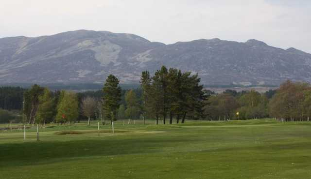 The golf course at Newtonmore Golf Club