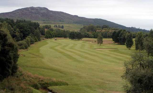 The 1st hole at Newtonmore Golf Club