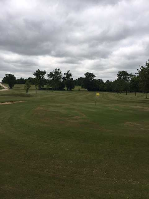 On the green at Oaksey Golf Club