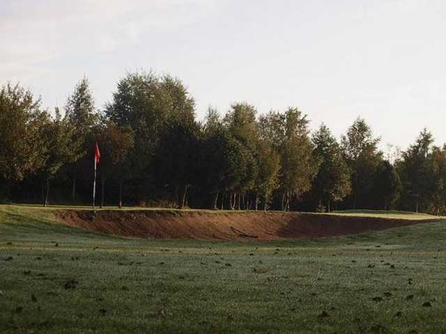 A deep greenside bunker at Brierley Forest Golf Club