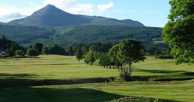 A look down the lush fairways at Brodick Golf Club