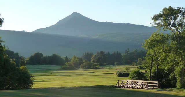 The undulating links fairways at Brodick Golf Club