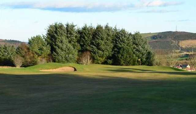 Approaching the green at Westhill Golf Club