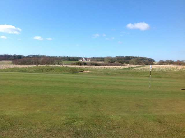 The 15th green at Bridlington Links Golf Course