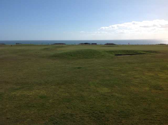The view from the clubhouse at Bridlington Links Golf Club