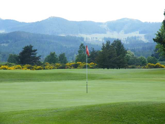 The 18th green at Ballater Golf Club