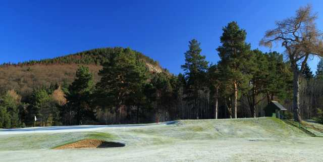The 10th tee at Ballater Golf Club
