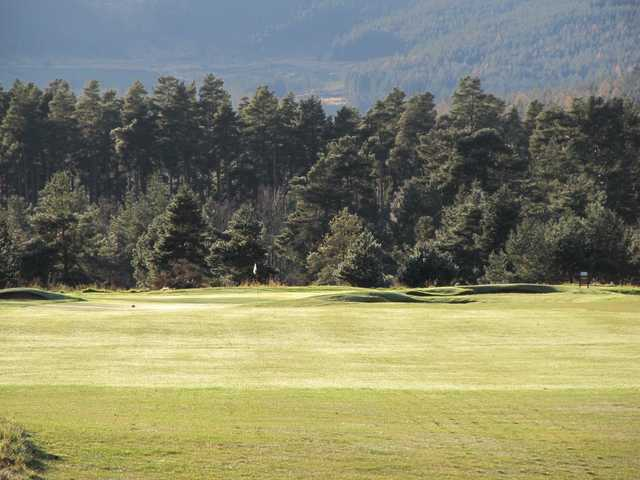 The 16th green at Ballater Golf Club