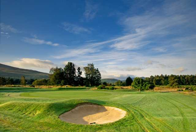 The 17th green at Ballater Golf Club