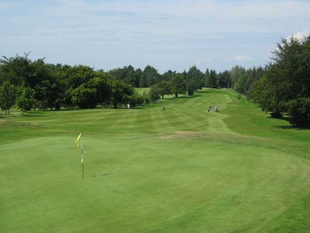 A look back from the green at Cathcart Castle Golf Club