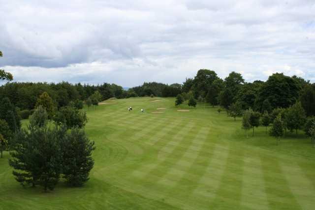 The 15th hole at The Whitecraigs Golf Club