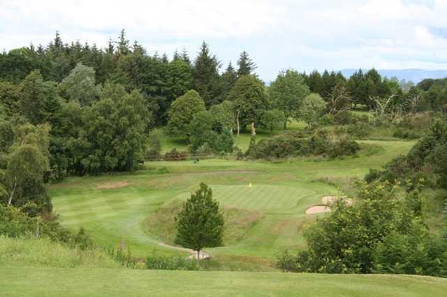 The tough par-3 16th at The Whitecraigs Golf Club