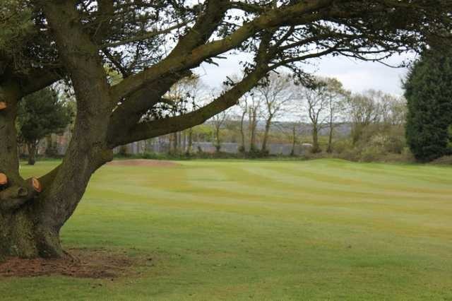 A tough approach shot at Haverfordwest Golf Course