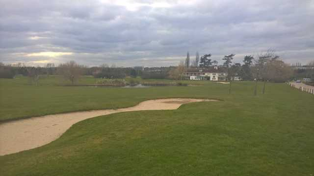 A tough looking approach at the 18th at Woolston Manor