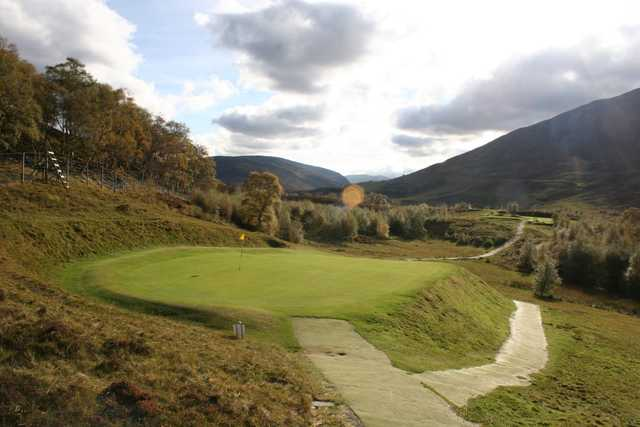 The 3rd green at Braemar Golf Club