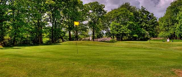 The 1st green at Sedbergh Golf Club