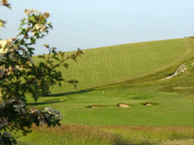The well protected 15th green at Royston Golf Club
