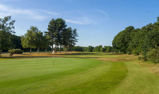 The 1st green at Old Fold Manor Golf Course