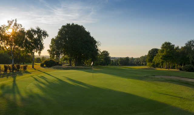 A look back from behind the 12th green at Old Fold Manor Golf Club