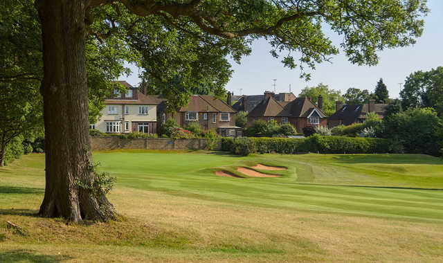 The 5th green at Old Fold Manor Golf Club