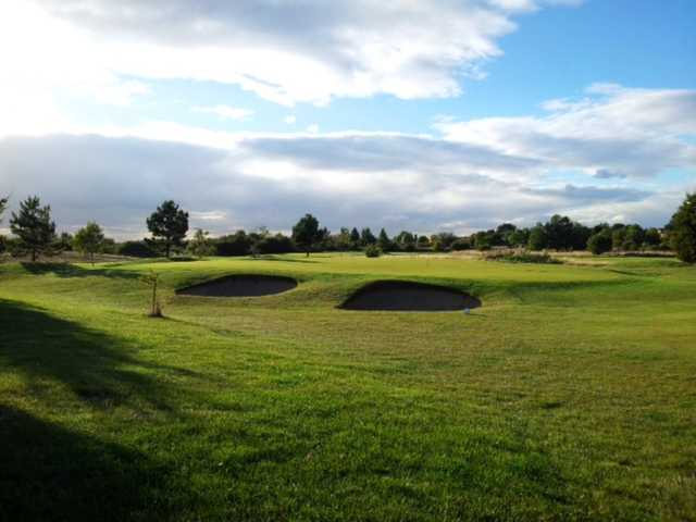 Scenic view of the 3rd green and bunkers at Cleethorpes Golf Club