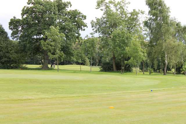 Beautiful view of the 5th hole and surrounding trees at Gatley Golf Club