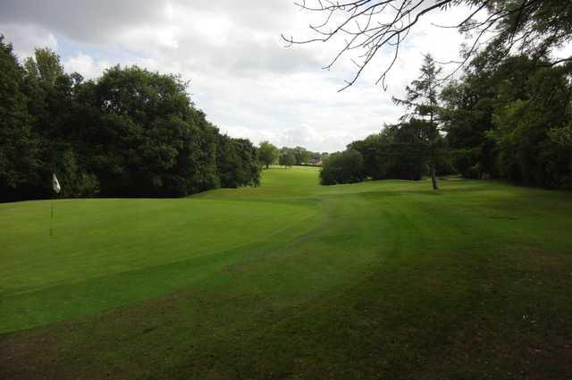 The 8th green at Gatley Golf Club