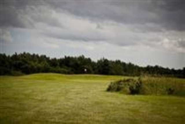 The fairway approach looking at the 11th green at Caldecott Golf Club