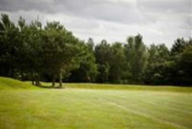 A view of the 13th green at Caldecott golf Club