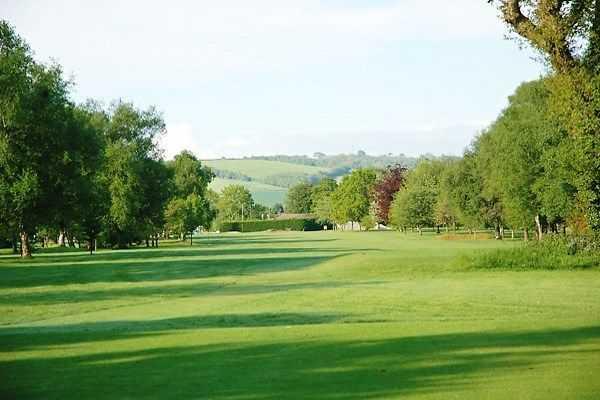 The 11th green at Tiverton Golf Club