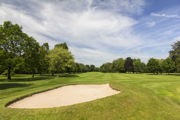 13th green on the Tiverton Golf Course
