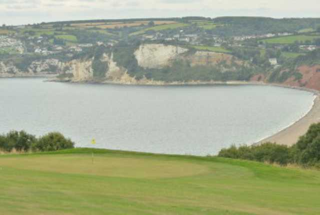 View of the coast from the golf course at Axe Cliff Golf Club