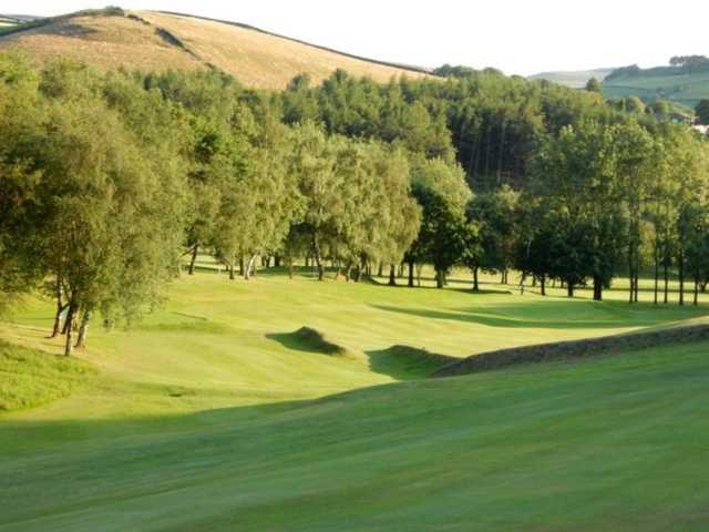 A view of one of the undulating fairways at Glossop & District Golf Club